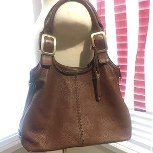 Cole Haan Shoulder bag Brown Pebbled Leather